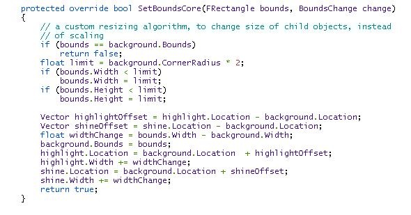 SetBoundsCore Function